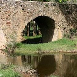 Río Araviana en Noviercas, ayuntamiento de Noviercas